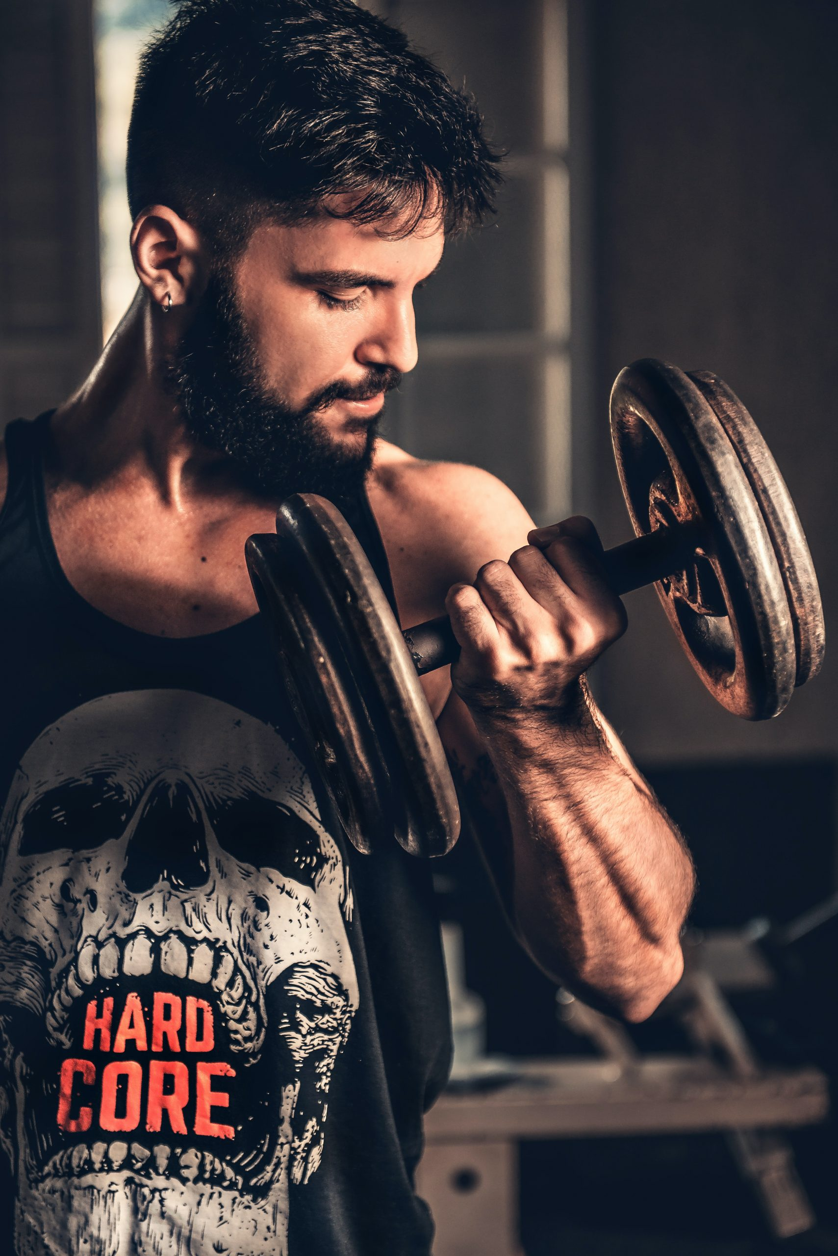 Mental-Physical-Power-Strength-Dumbbell-Lifting