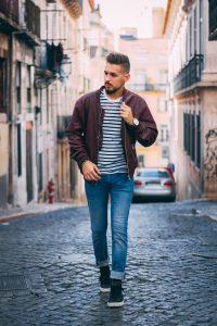 Man wearing stripes