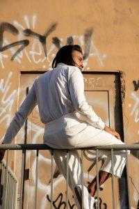 Man wearing all white