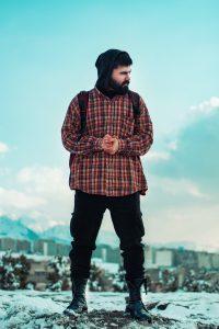 Man wearing flannel