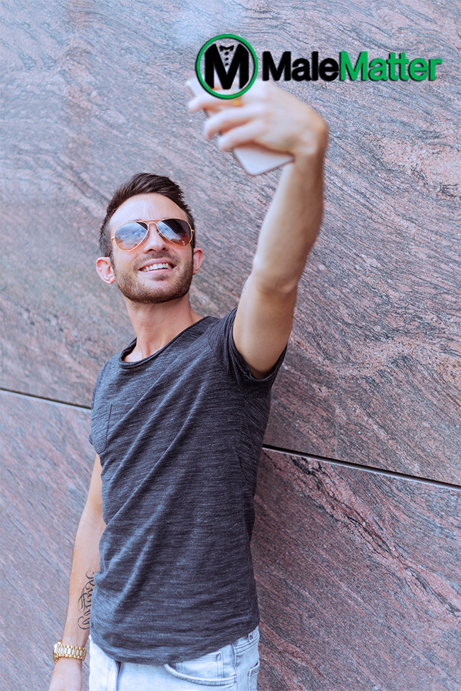 Man taking selfie from an angle