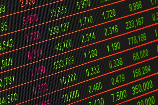 Stock market investment. A readings of the market price