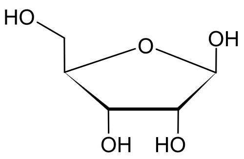 D-Ribosa chemical structure