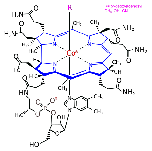 Vitamin B12 chemical structure